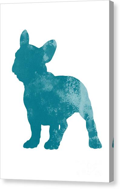 Dog Canvas Print - French Bulldog Fine Art Illustration by Joanna Szmerdt
