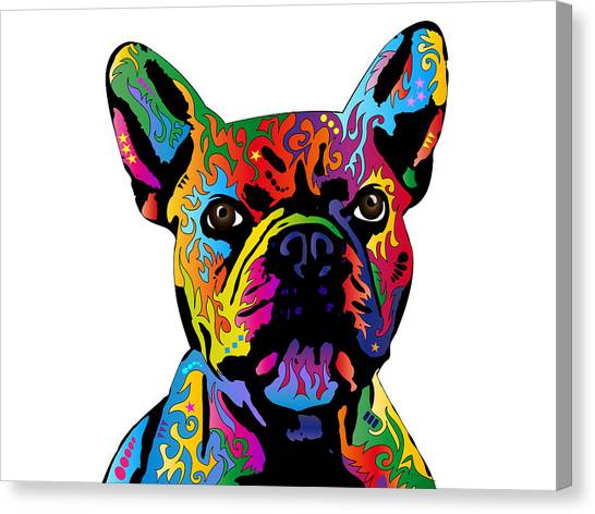 French Canvas Print - French Bulldog by Michael Tompsett