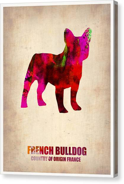 Pets Canvas Print - French Bulldog Poster by Naxart Studio