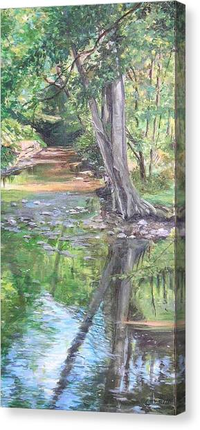 French Creek Canvas Print by Denise Ivey Telep