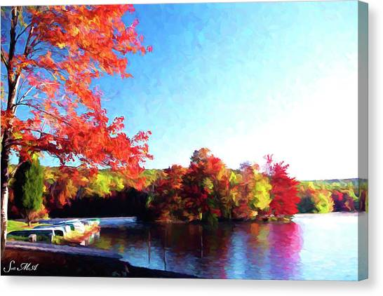 French Creek Fall 020 Canvas Print