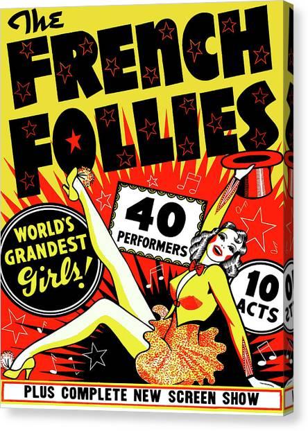 Follies Canvas Print - French Follies, Dancing Girl, Show by Long Shot
