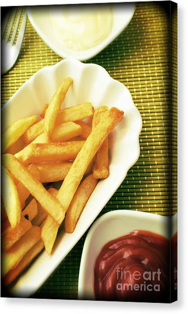 Mayonnaise Canvas Print - French Fries by Andreas Berheide