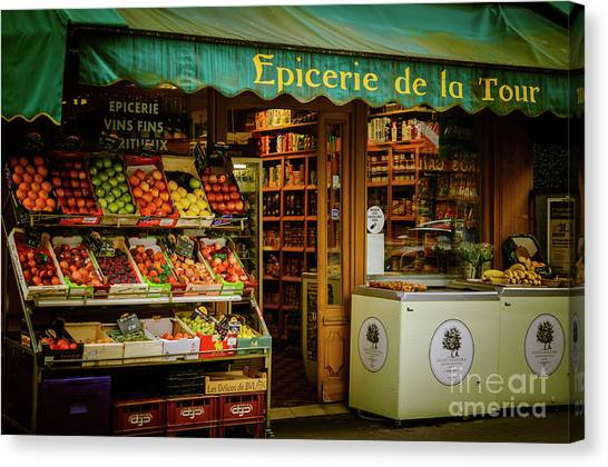 French Groceries Canvas Print