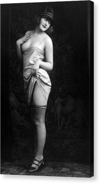 Jt History Canvas Print - French Lingerie Model, Circa 1920 by Everett