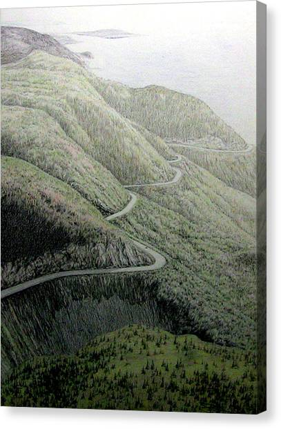 French Mountain At 400 Metres Canvas Print by Roger Beaudry