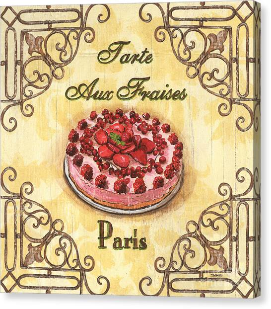 Strawberry Canvas Print - French Pastry 1 by Debbie DeWitt