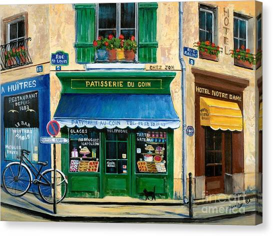 Oysters Canvas Print - French Pastry Shop by Marilyn Dunlap