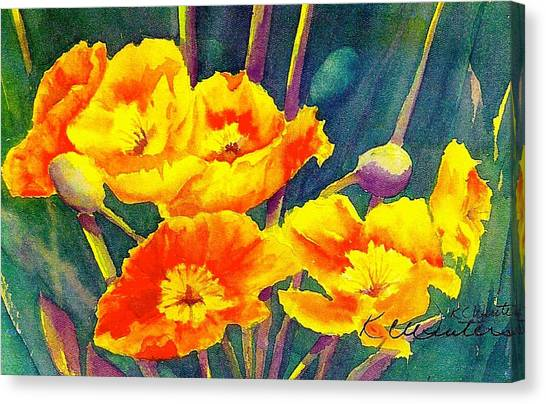 French Poppies Canvas Print by KC Winters