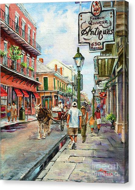 French Quarter Antiques Canvas Print