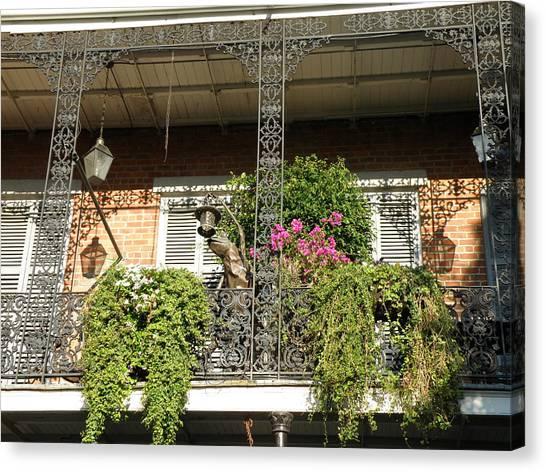 French Quarter Balcony Canvas Print by Jack Herrington