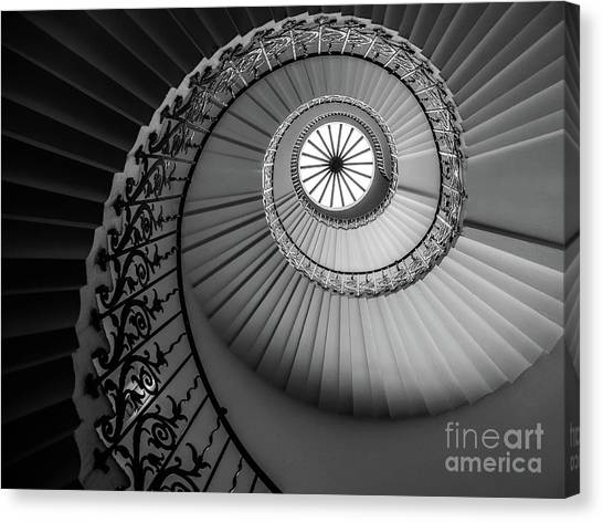 French Spiral Staircase 1 Canvas Print