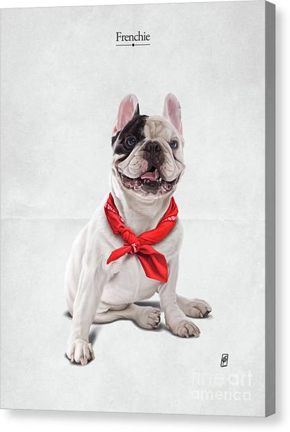 Canvas Print featuring the digital art Frenchie by Rob Snow
