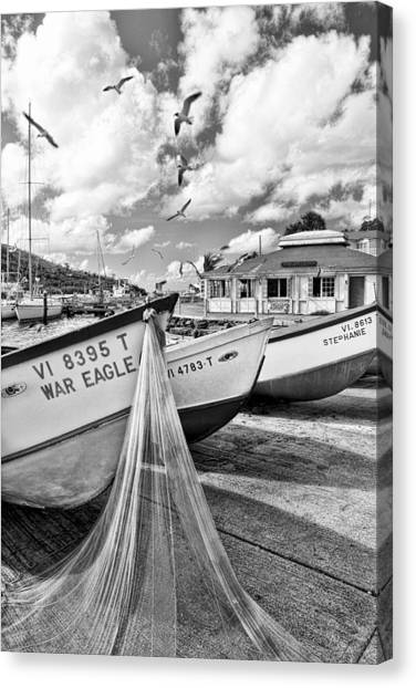 Frenchtown Fishing Boats 1 Canvas Print