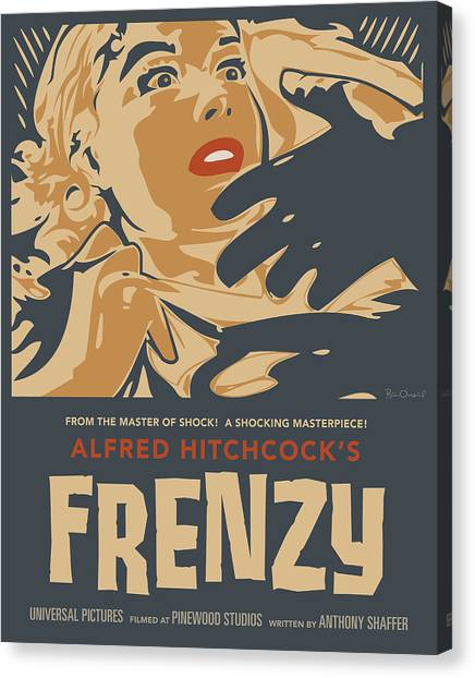 Frenzy - Thriller Noir Canvas Print by Bill ONeil