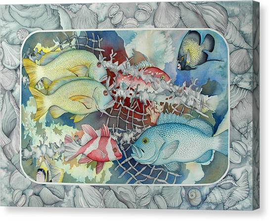 Fresh Catch Canvas Print by Liduine Bekman