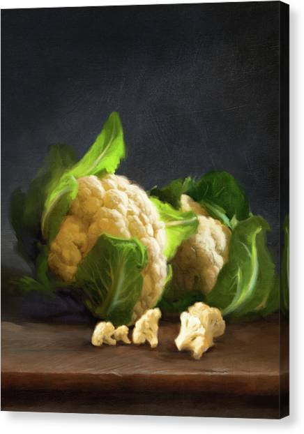 Fresh Cauliflower Canvas Print