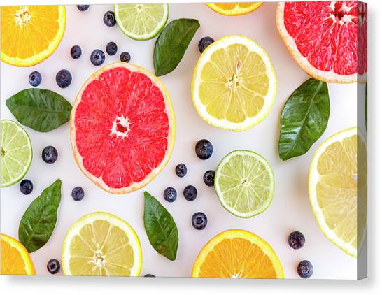 Fresh Citrus Fruits Canvas Print