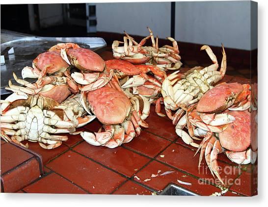 Fresh Cooked Crabs At Fishermans Wharf San Francisco California 7d14459 Canvas Print