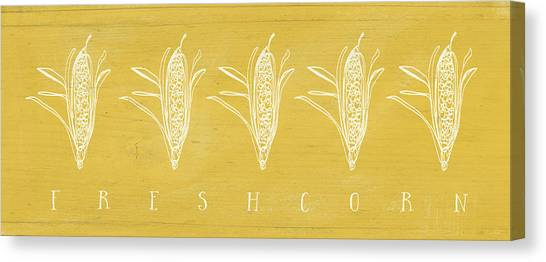 Thanksgiving Canvas Print - Fresh Corn- Art By Linda Woods by Linda Woods