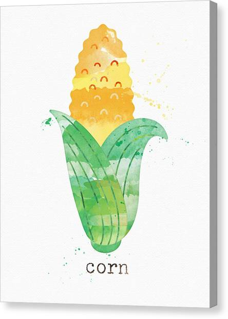 Corn Canvas Print - Fresh Corn by Linda Woods