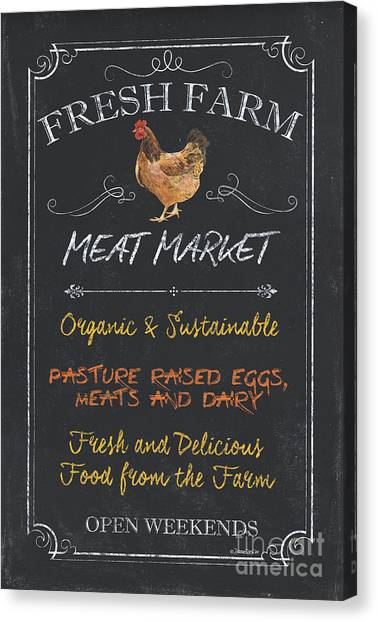 Meat Canvas Print - Fresh Farm Meat by Debbie DeWitt