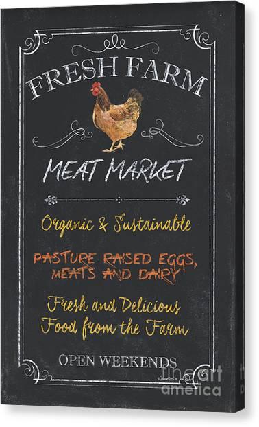 Chicken Farms Canvas Print - Fresh Farm Meat by Debbie DeWitt