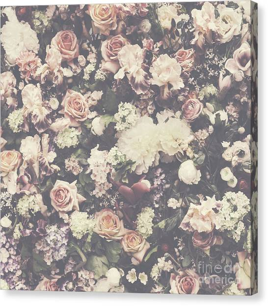 Fresh Flower Pattern Background Canvas Print