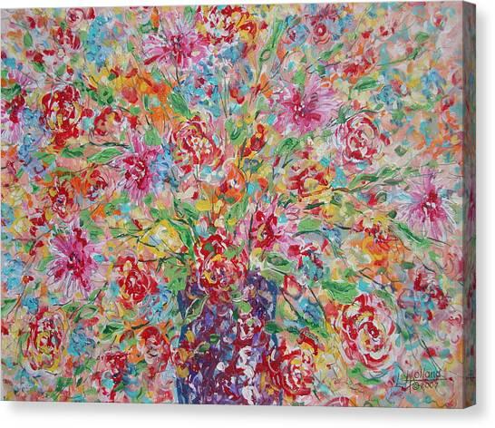 Fresh Flowers. Canvas Print