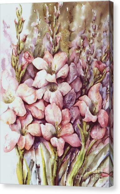 Fresh Gladiolas Canvas Print by Marta Styk
