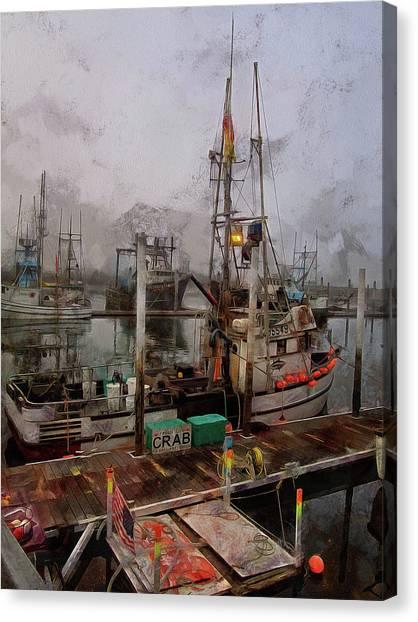Fresh Live Crab Canvas Print