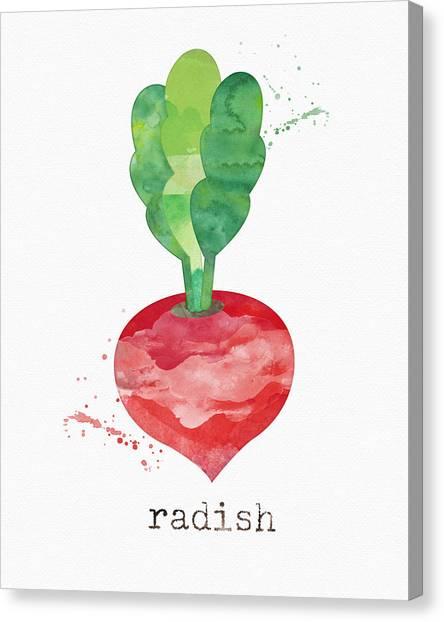 Farms Canvas Print - Fresh Radish by Linda Woods