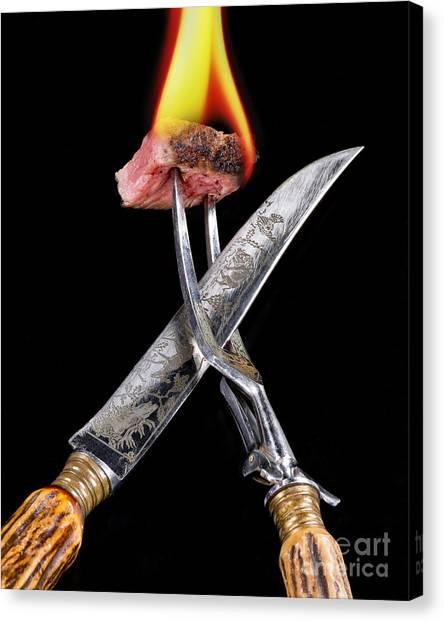 Ribeye Canvas Print - Fresh Rib Eye Steak. by W Scott McGill