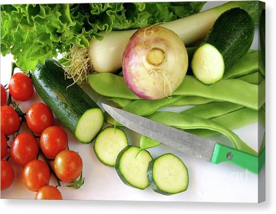 Lettuce Canvas Print - Fresh Vegetables by Carlos Caetano