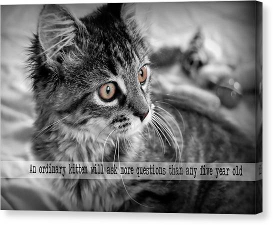 Freya Quote Canvas Print by JAMART Photography