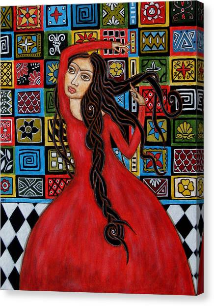 Flamenco Canvas Print - Frida Kahlo Flamenco Dancing  by Rain Ririn