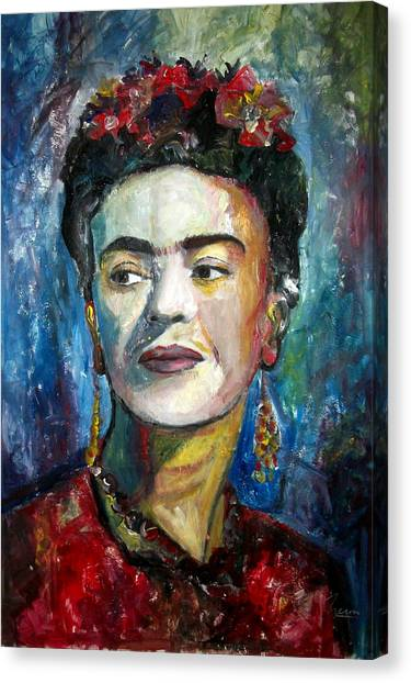 Pre-modern Art Canvas Print - Frida Kahlo by Marcelo Neira