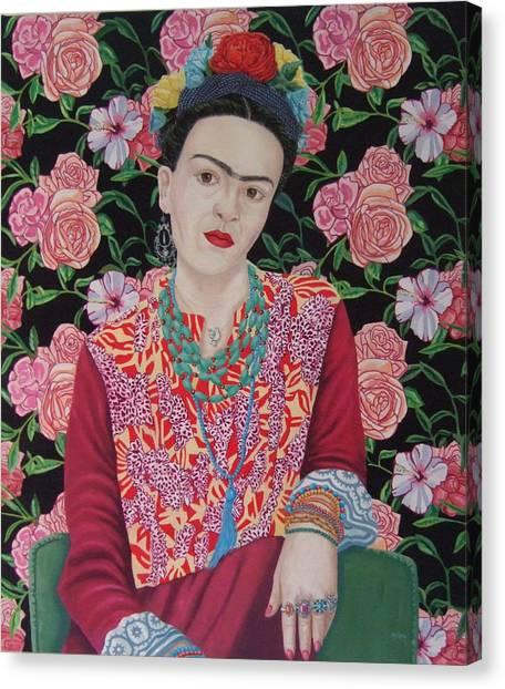 Canvas Print - Frida Kahlo by Michael McEvoy