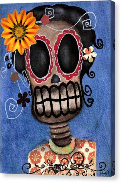 Frida Muerta Canvas Print