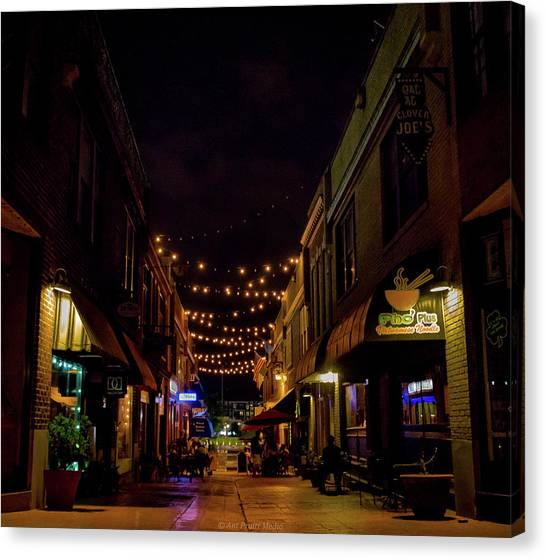 Friday Night Alley Canvas Print