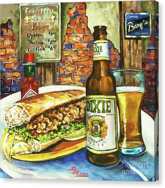 Food Canvas Print - Friday Night Special by Dianne Parks