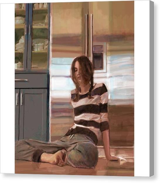 Realism Art Canvas Print - fridge #frenchgirlsapp #selfieart by James Garza
