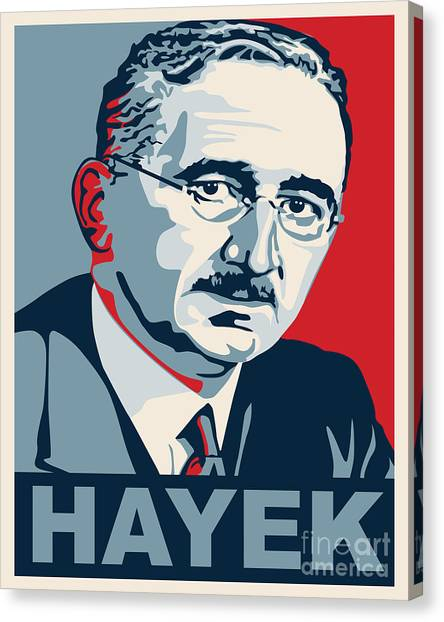 Libertarian Canvas Print - Friedrich Hayek by John L