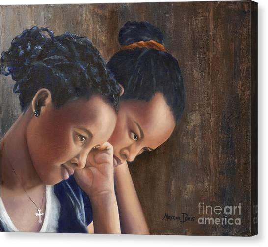 Ethiopian Woman Canvas Print - Friend A Life's Blessing by Marcia Davis