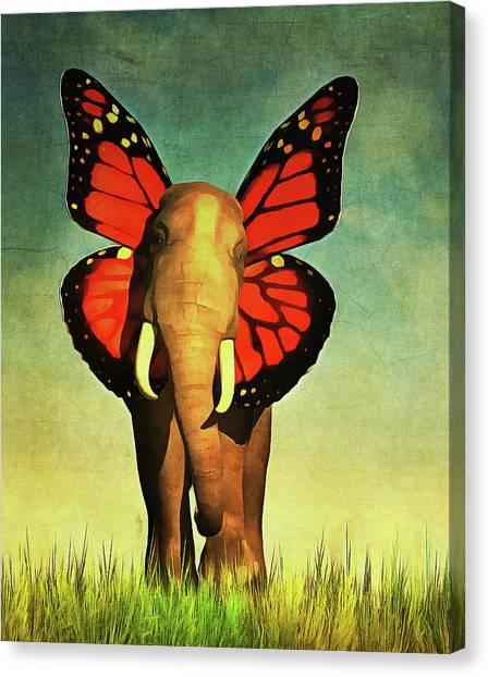 Friendly Elephant Canvas Print