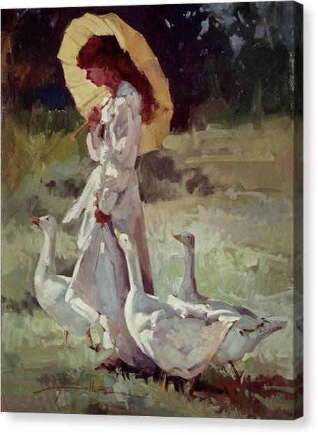 Friendly Flock Canvas Print