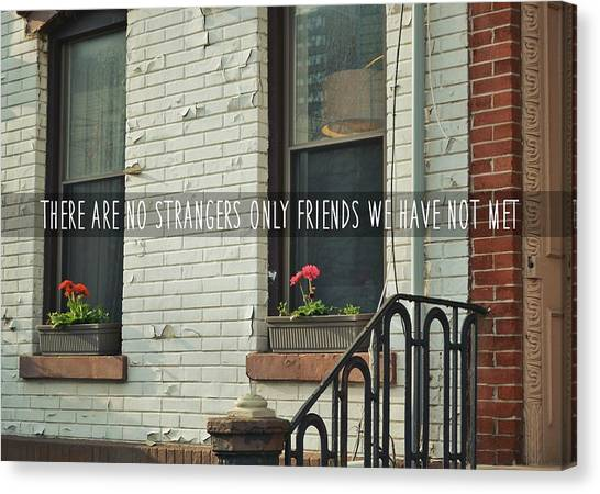 Friendly Hood Quote Canvas Print by JAMART Photography