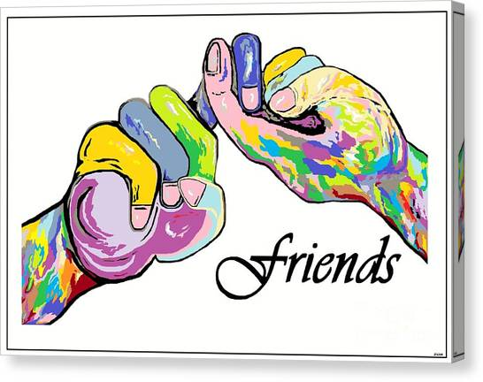 Friends . . . An American Sign Language Painting Canvas Print