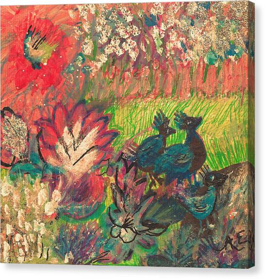 Canvas Print - Friends Going For A Walk by Anne-elizabeth Whiteway