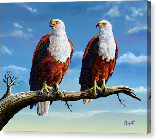 Friends Hanging Out Canvas Print